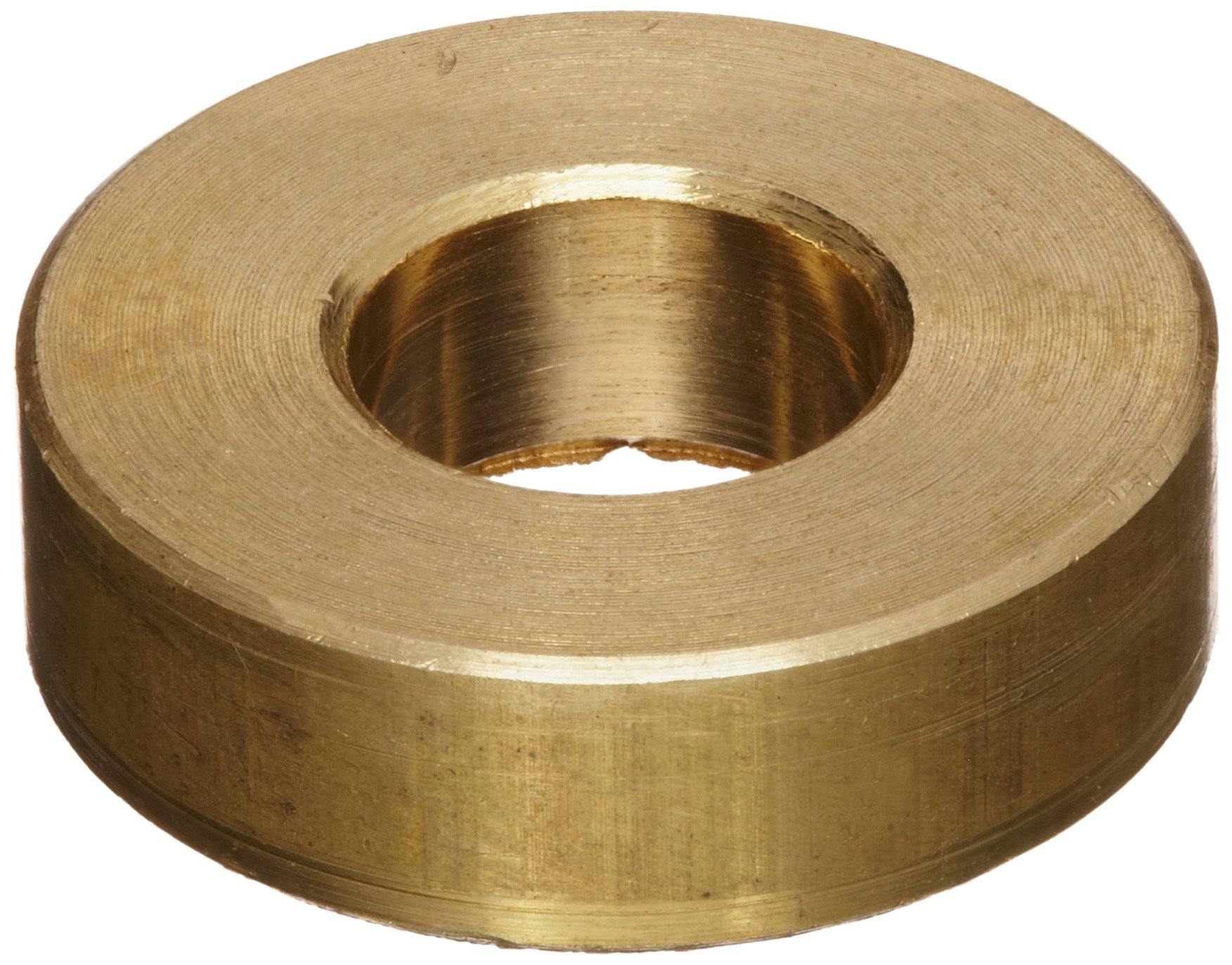 Brass Type B Flat Washer, Meets ANSI B18.22.1, 5/16'' Hole Size, 0.469'' ID, 1'' OD, 0.125'' Nominal Thickness, Made in US (Pack of 10)