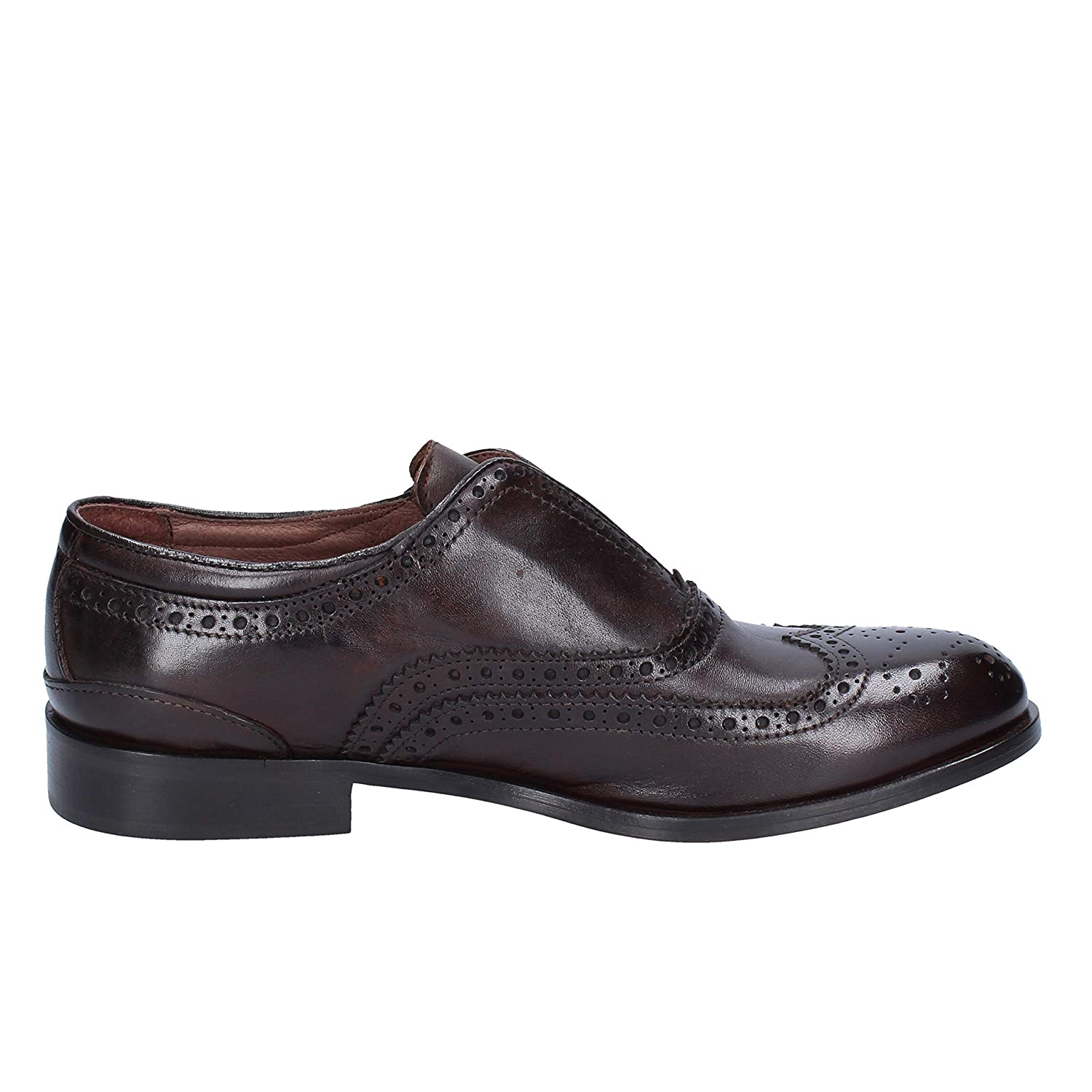 Details about  /Mens Round Toe Low Top Slip On Genuine Leather Leisure Leather Oxfords Shoes Hot