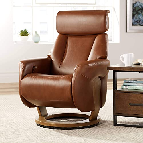 Augusta Brown Faux Leather 4-Way Recliner Chair