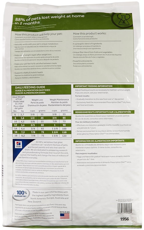 Amazon.com : Hills Prescription Diet Feline Metabolic Advanced Weight Solution Dry Cat Food, 17.6-lb bag : Pet Food : Pet Supplies