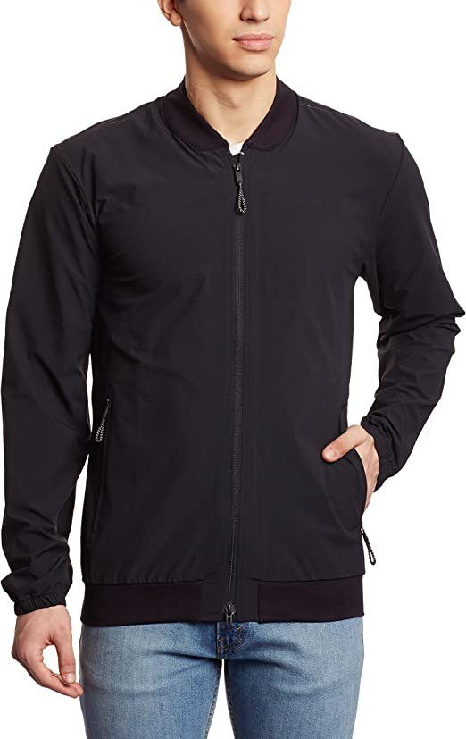 AC0335 Adidas Mens Premium Training Standard19 Jacket Zip Coat Black