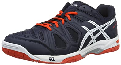 Asics Gel-Game 5, Chaussures de Tennis Homme, Multicolore (Sky Captain/White/Orange), 40.5 EU