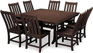 product image for POLYWOOD Vineyard 9-Piece Dining Set (Mahogany)