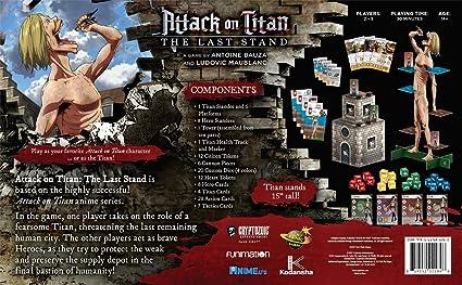 Cryptozoic Entertainment 2184 Attack on Titan - Juego de Mesa táctica: Amazon.es: Juguetes y juegos