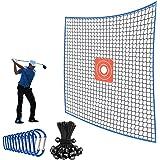 SAPLIZE Golf Practice Barrier Net, 10x10 ft / 10x 20 ft / 10x15 ft, High Impact Golf Ball Hitting Netting, Heavy Duty Golf Co