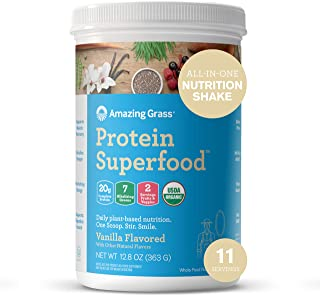 product image for Amazing Grass Protein Superfood: Vegan Protein Powder, All in One Nutrition Shake, Pure Vanilla, 11 Servings