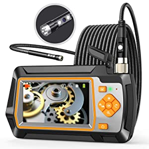 Industrial Endoscope,Borescope Camera 1080P 5.5mm Dual Lens with 4.3'' IPS Screen,Wide Viewing Angle Video Snake Inspection Camera Waterproof (9.8ft Borescope)