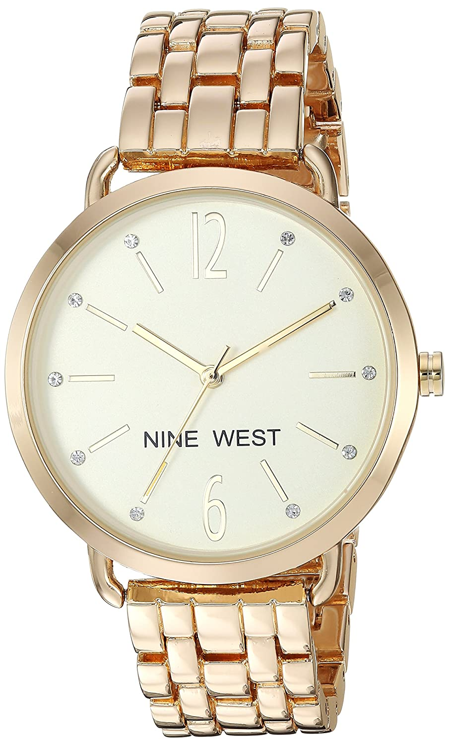 Amazon.com: Nine West Womens Quartz Metal and Alloy Dress Watch, Color:Rose Gold-Toned: Watches