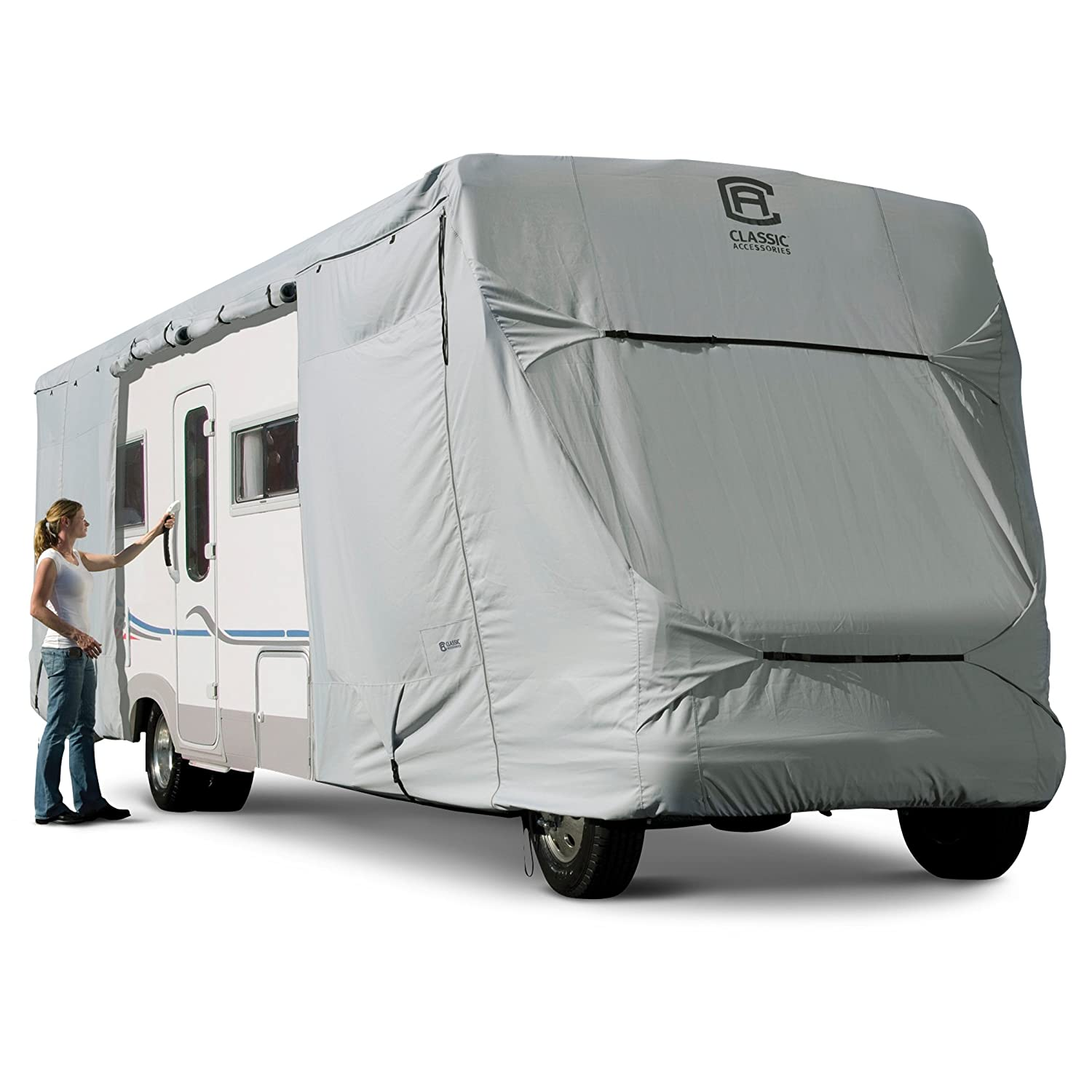 Classic Accessories 80-314-191001-RT Grey 32 Feet-35 Feet Arctic Blue Product 80-314 Rv Cover Class C 32-35' X 125' CLASSIC ACCESSORIES INC