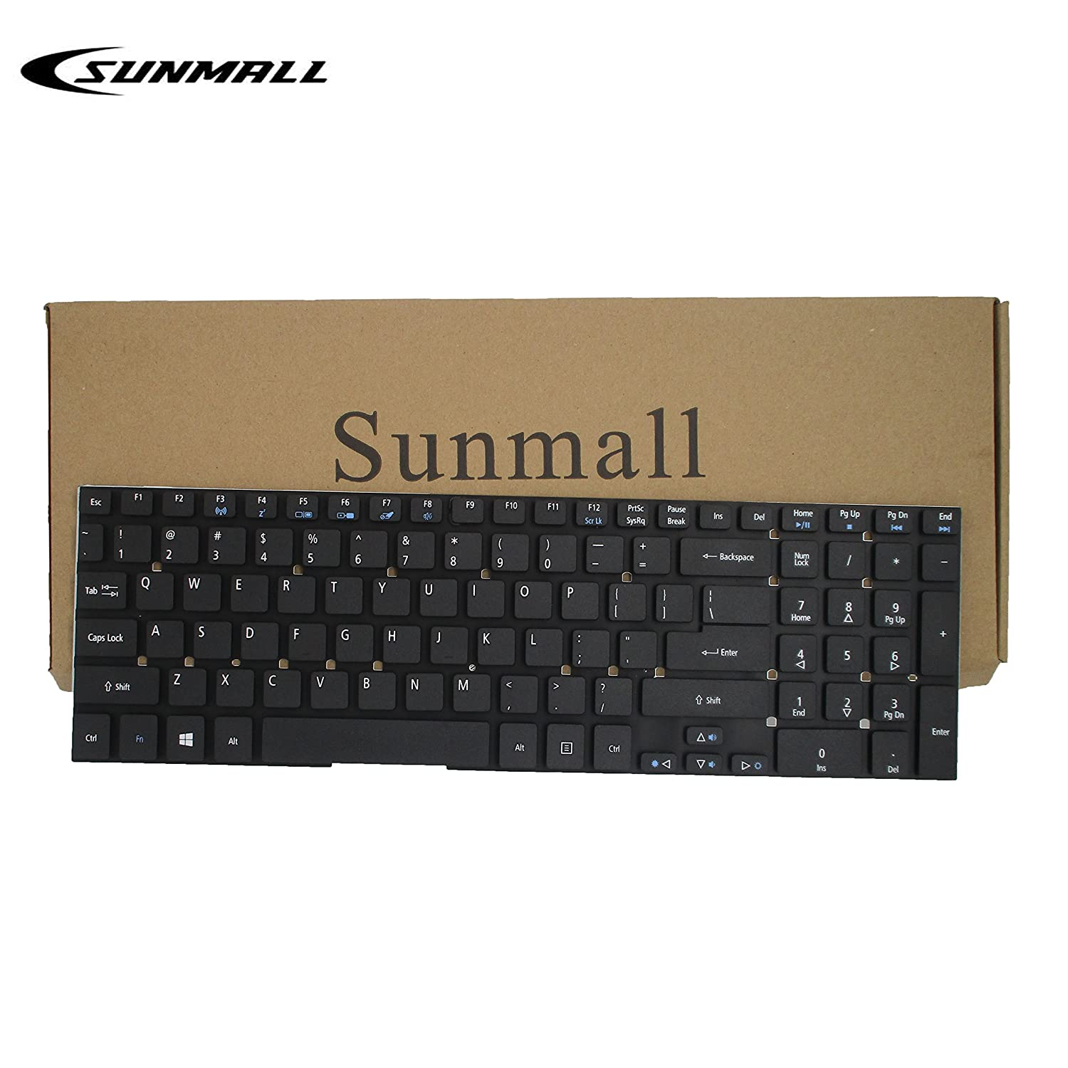 Laptop Keyboard Compatible for Acer Iconia Tab W510 W510P US Layout Black Color No Frame
