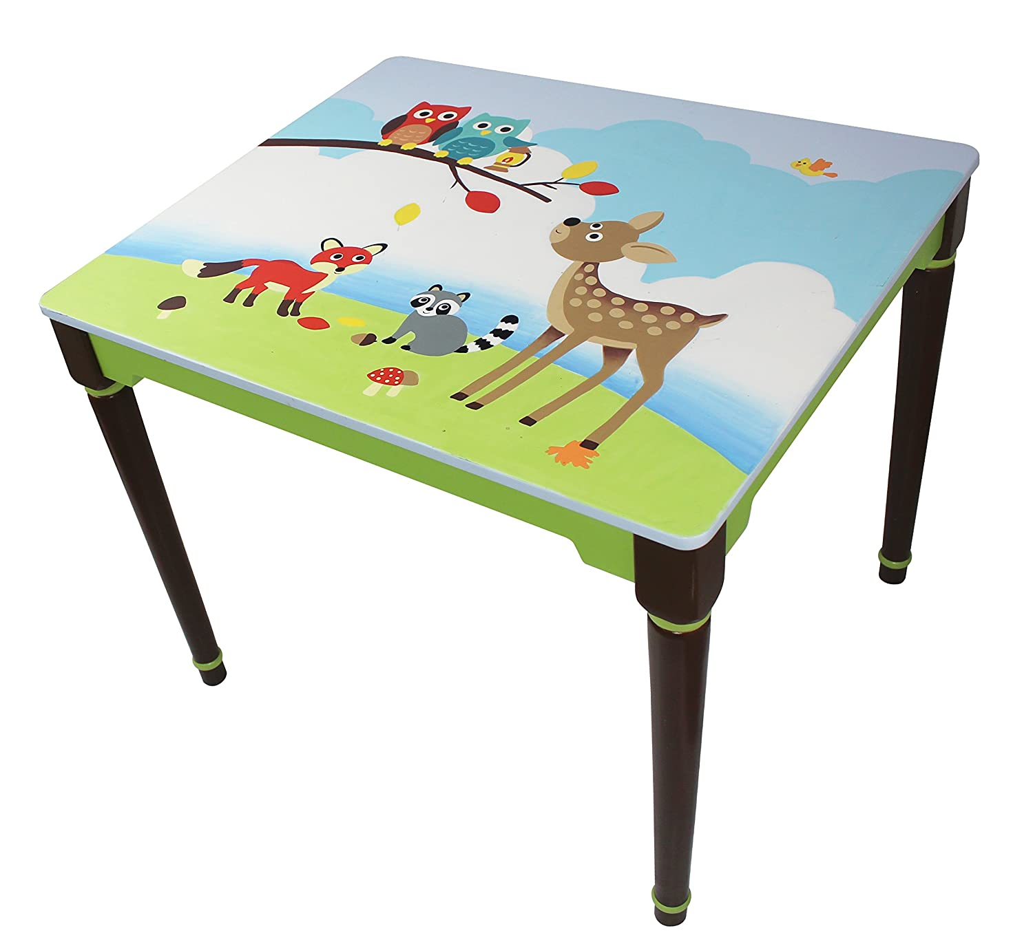 Fantasy Fields - Knights & Dragon themed Hand Crafted Kids Wooden Table (Chair Sold Seperately) |   Hand Crafted & Hand Painted Details | Child Friendly Water-based Paint Teamson TD-11837A1