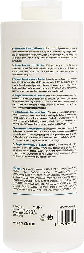 K-Whole Champú Reconstructor con Keratina - 1000 ml: Amazon.es: Belleza