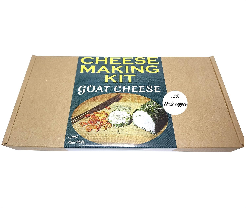 Premium-Set zur Kä seherstellung, fü r selbstgemachten Ziegenkä se mit schwarzem Pfeffer Cheese Making Kit