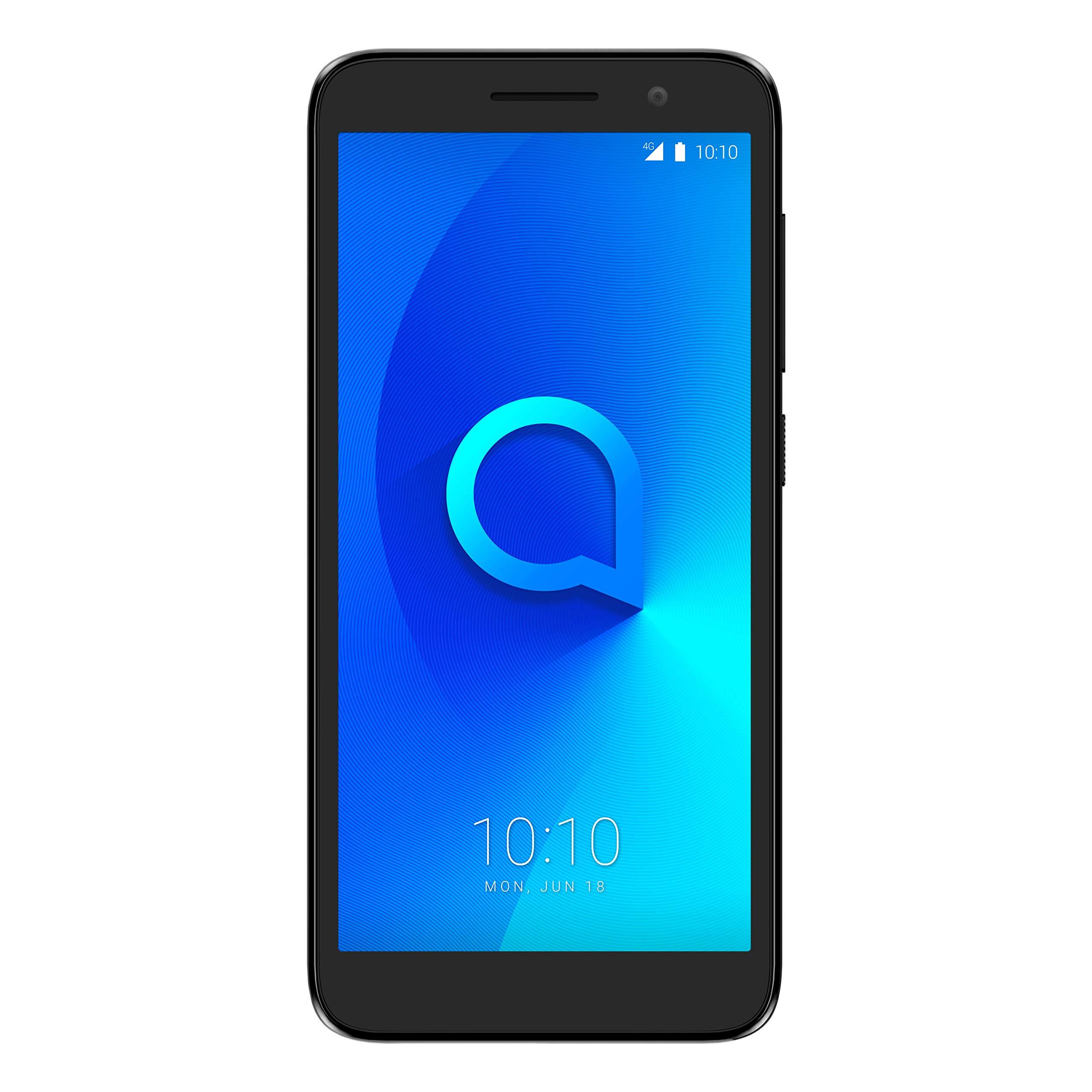 Alcatel 1 (2019) Sim Free Unlocked UK 4G Smartphone, FullView 18:9 Display with 8MP Camera, 1GB RAM / 8GB Storage and Android Oreo (Go edition) - Metallic Black