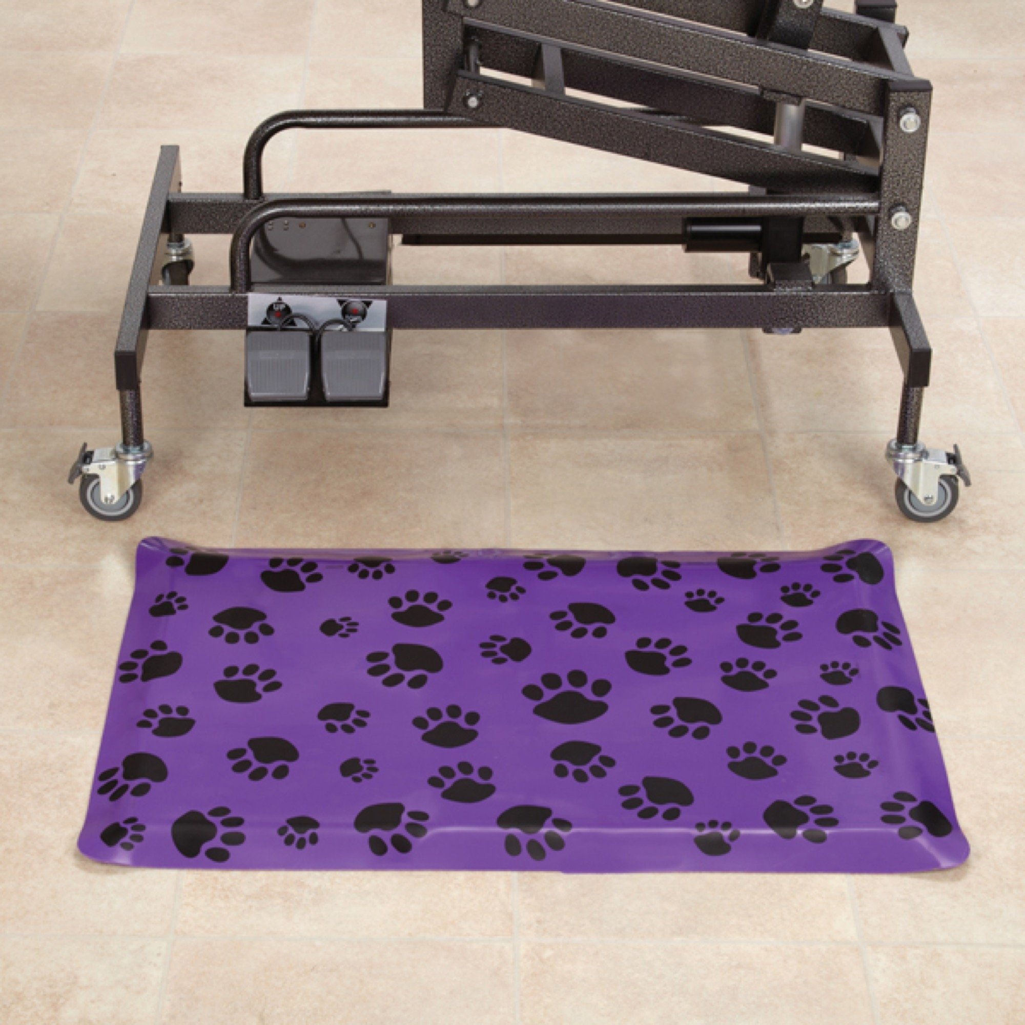 Top Performance  Anti-Fatigue Rectangular Floor Mats — Comfortable and Heavy-Duty PVC and Foam Mats for Professional Dog Groomers - 24'', Purple by Top Performance