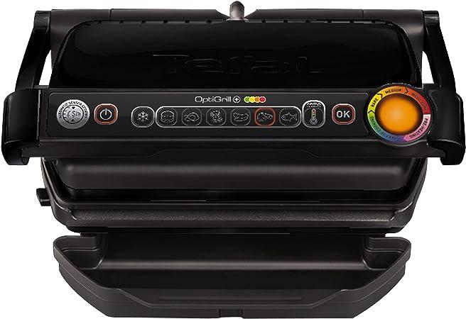Oferta amazon: Tefal Optigrill + Black edition GC712812 - Plancha de cocina 2000 W, 6 modos de cocción, indicador del progreso, sensor de grosor, bandejas extraíbles, desmontables y aptas para lavavajillas