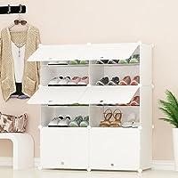 PREMAG Organisateur de Rangement pour Chaussures Portable, Blanc, Étagère modulaire pour Gagner de la Place, Étagères à Chaussures pour Chaussures, Bottes, Pantoufles