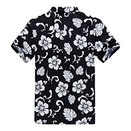 2ca1b179 Matching Father Son Hawaiian Luau Outfit Men Shirt Boy Shirt Shorts PW Red  Hibiscus at Amazon Men's Clothing store:
