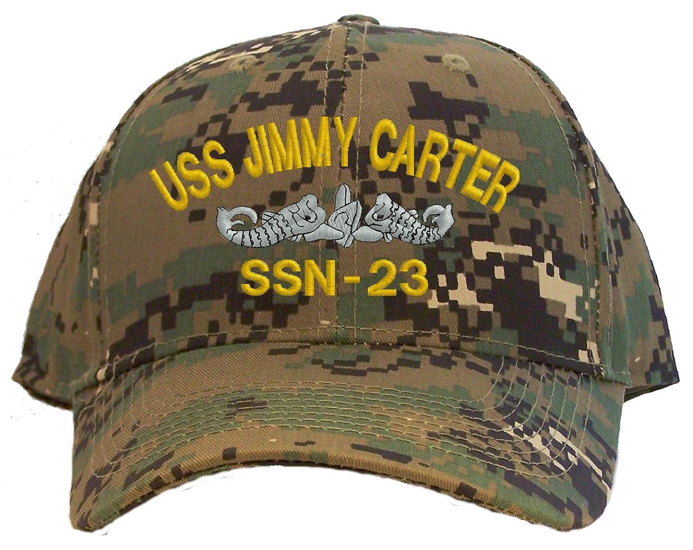USS Jimmy Carter SSN-23 Embroidered Baseball Cap Digital Camo
