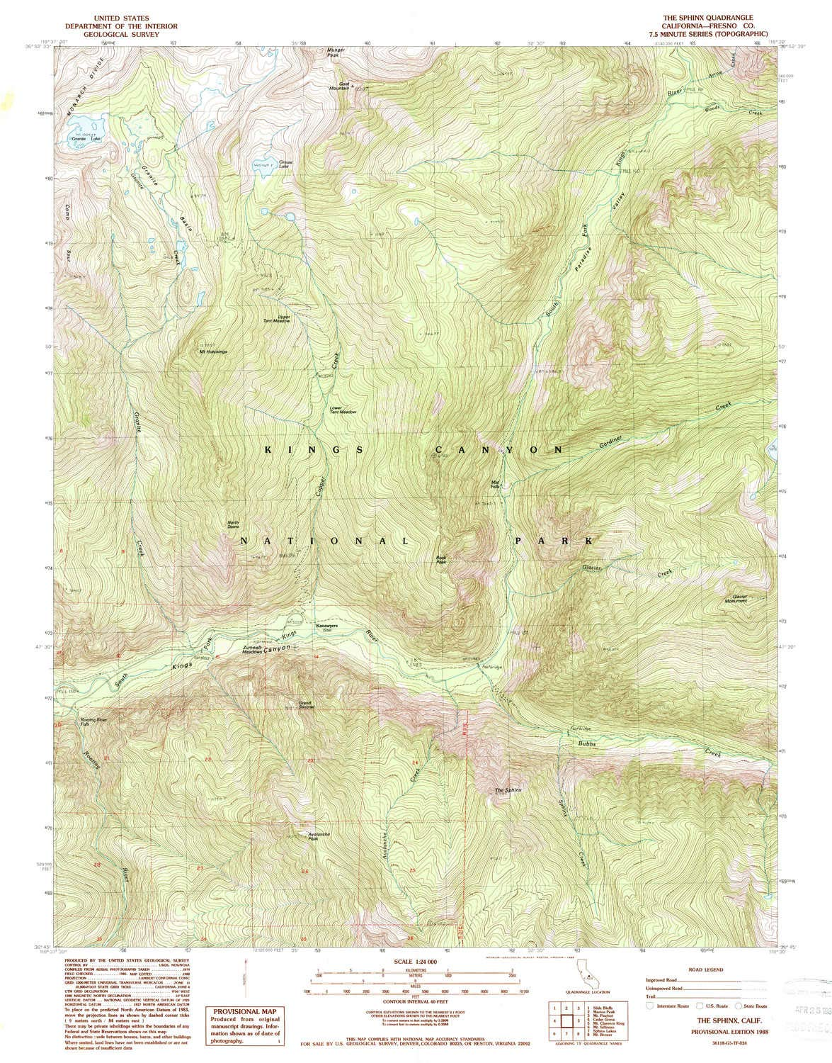 YellowMaps The Sphinx CA topo map, 1:24000 Scale, 7.5 X 7.5 Minute, Historical, 1988, Updated 1988, 26.7 x 20.9 in - Tyvek by YellowMaps