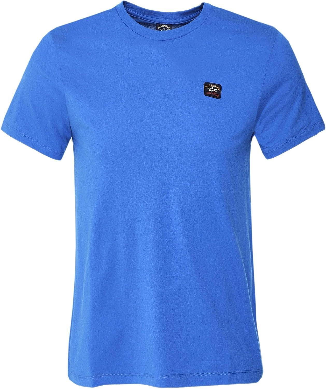Paul and Shark Men's Crew Neck Cotton T-Shirt Blue