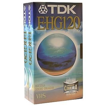 JVC Extra TDK Archivo de Casete de Cinta de vídeo VHS en Blanco para Alto Rendimiento y grabación Especial Uso e-hg120 2 x 2 Hour: Amazon.es: Informática