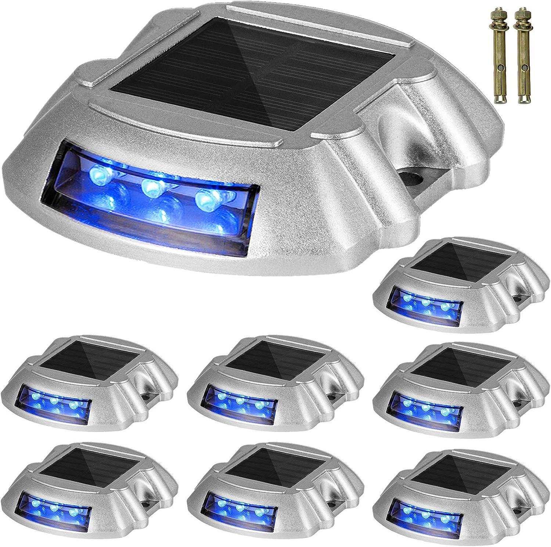 Solar Deck Lights Driveway Lights Solar Deck Light Led 24 Pack for Sidewalk Blue