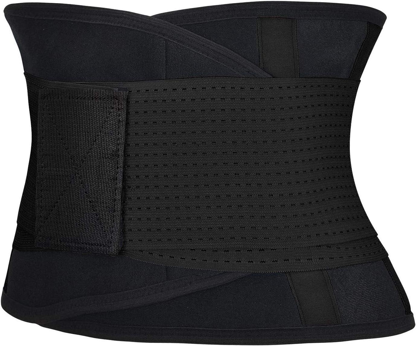 Aoge Premium Waist Trainer for Women Back Support Workout Belt Neoprene Slimming Waist Trimmer Double Compression Straps