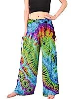 "Orient Trail Women's ""Cold"" Dyed Tie-dye Wide Leg Pajama Dance Yoga Pants US sizes 6-14"