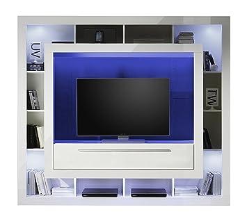 Furnline Medox High Gloss TV Stand Wall Unit Living Room Furniture Set   White. Furnline Medox High Gloss TV Stand Wall Unit Living Room Furniture