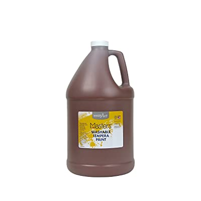 Handy Art Little Masters Washable Tempera Paint, Gallon, Brown: Arts, Crafts & Sewing