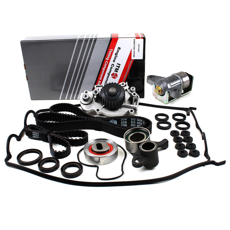 Auto Adjuster Water Pump Hydraulic Tensioner Valve Cover Gasket Set New ITM226HTWPVC Timing Belt Seals Kit 155 Round Teeth