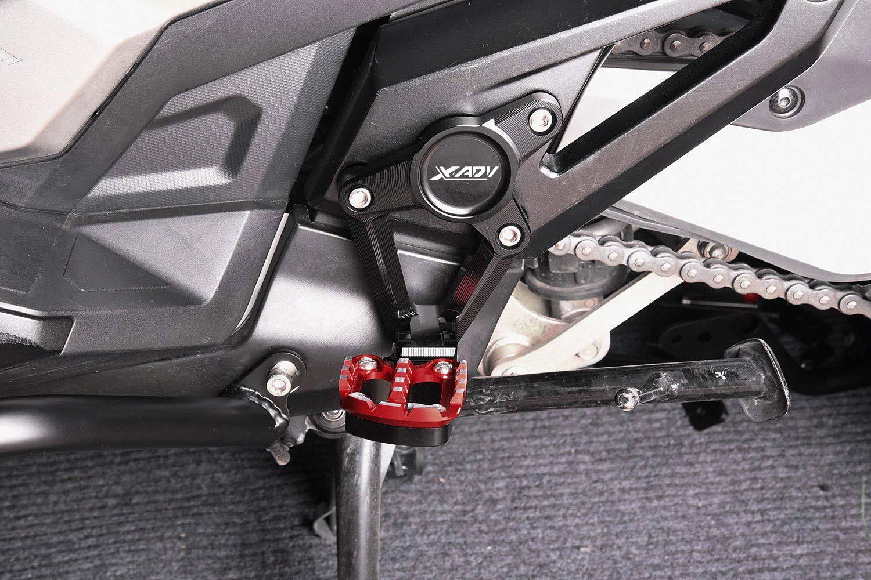 Negro+Rojo XADV Reposapi/és Plegables CNC Aluminio Estriberas Traseras para Honda X ADV X-ADV 750 2017 2018