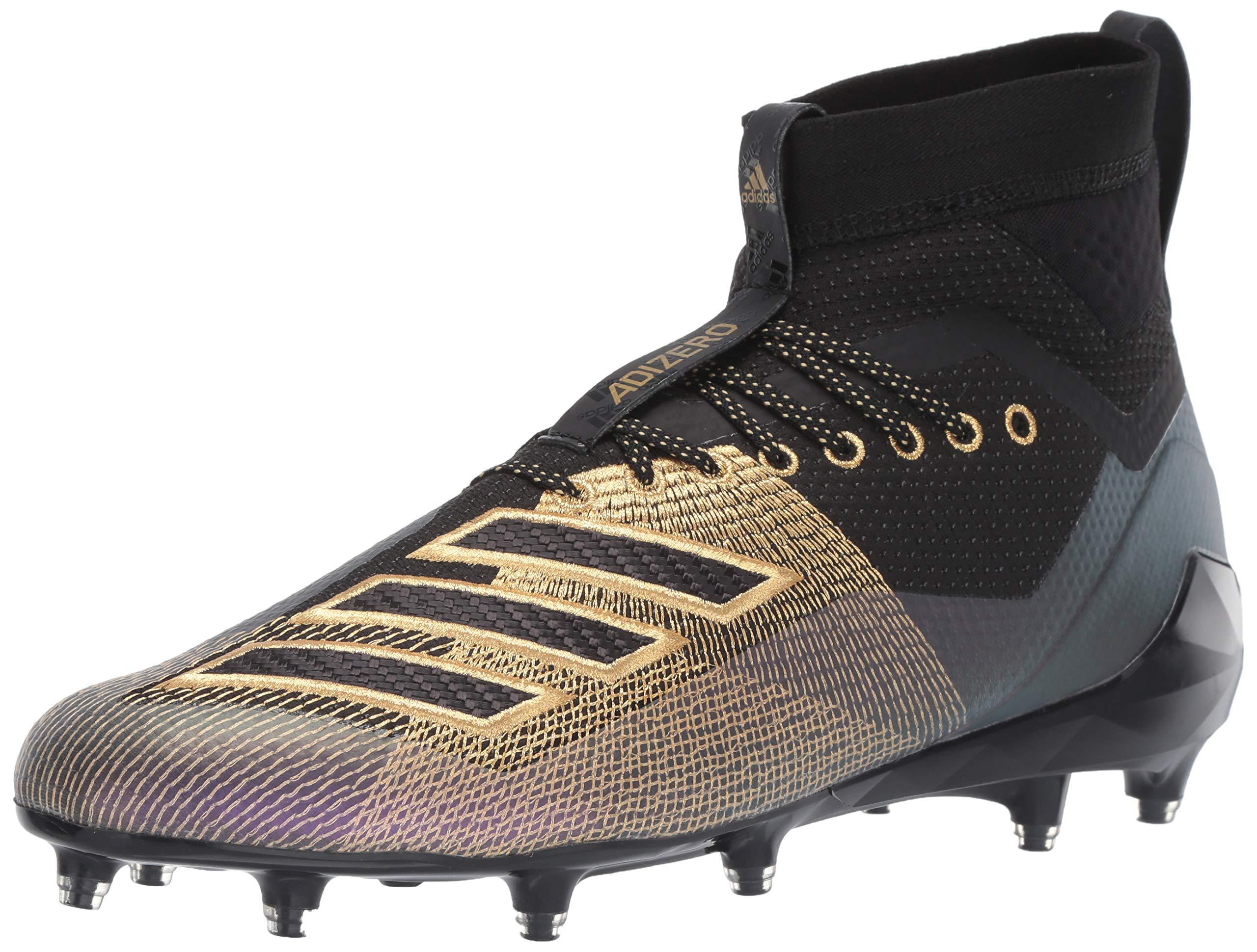 adidas Men's Adizero 8.0 SK Football Shoe Black/Gold Metallic/Grey 6.5 M US