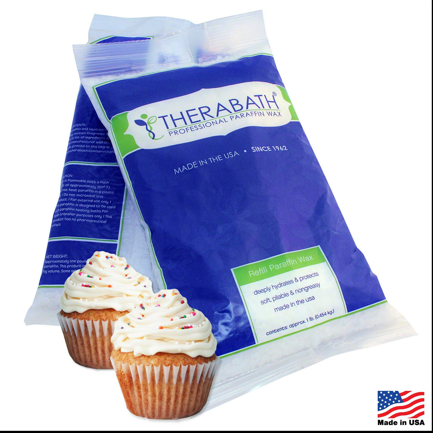 Therabath Paraffin Wax Refill - Use To Relieve Arthitis Pain and Stiff Muscles - Deeply Hydrates and Protects - 6 lbs (Vanilla Cupcake) by Therabath