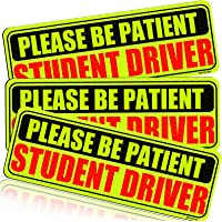 Botocar Student Driver Magnet for Car Signs Strong Student Driver Magnets Reflective Vehicle Bumper Sticker for New…
