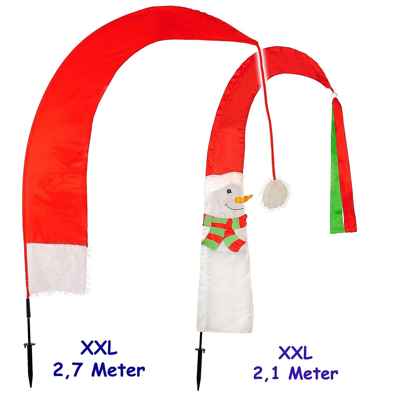 alles-meine.de GmbH 2 tlg. Set _ XXL - 2, 7 m ! - Windfahne / Balifahne - Weihnachten / Weihnacht..