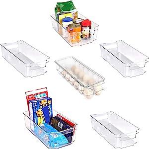 Refrigerator Pantry Organizer (6-Piece, Transparent)