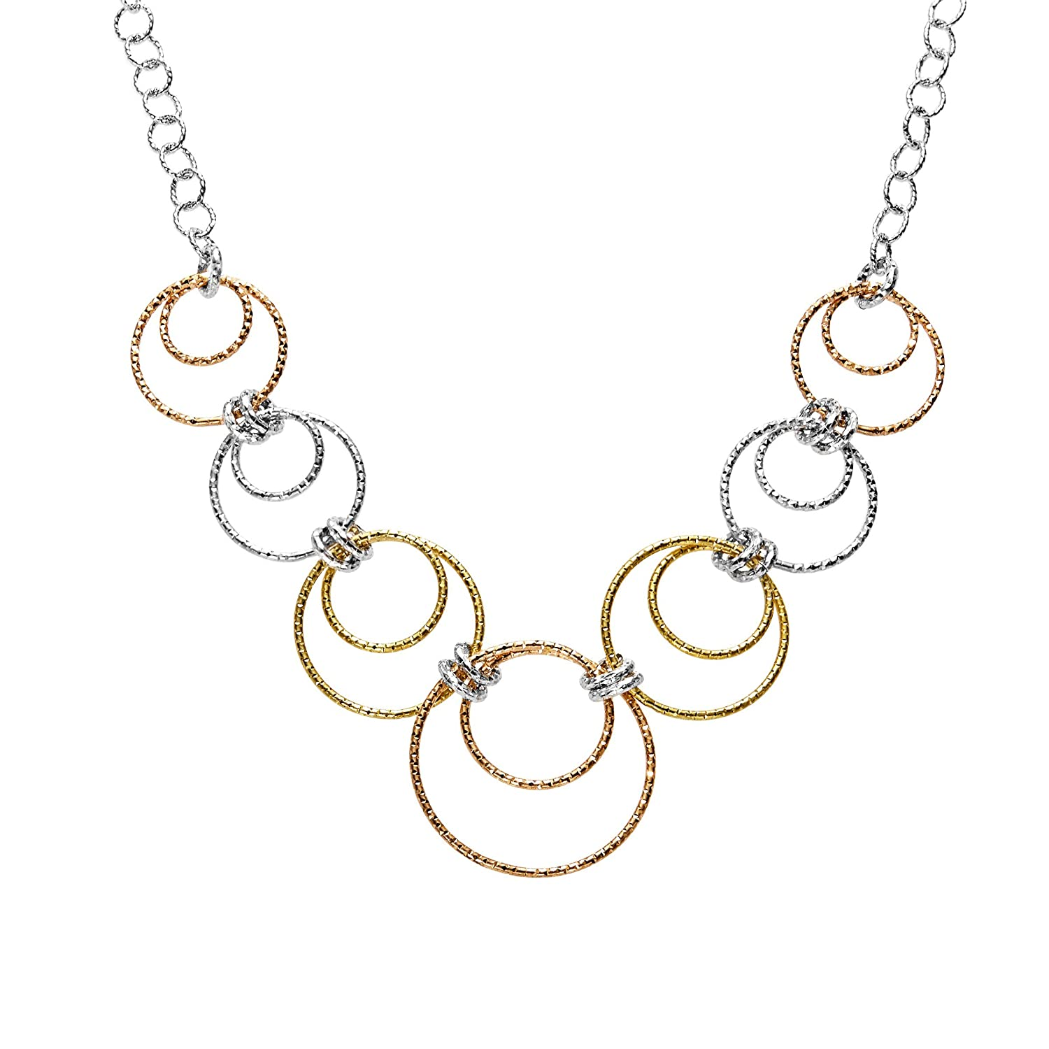 Circle Necklace in 18K Two-Tone Gold-Plated Sterling Silver