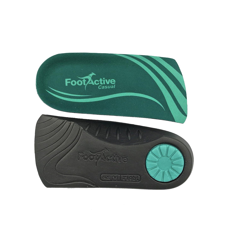 FOOTACTIVE CASUAL – LES ORIGINALES – pour les douleurs au niveau du talon, les épines calcanéennes, la fasciite plantaire, les douleurs du genou et le mal de dos – des semelles de qualité superbe Footlogics