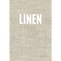 Linen: A linen print decorative book for coffee tables, bookshelves and interior design styling: Stack texture decor…