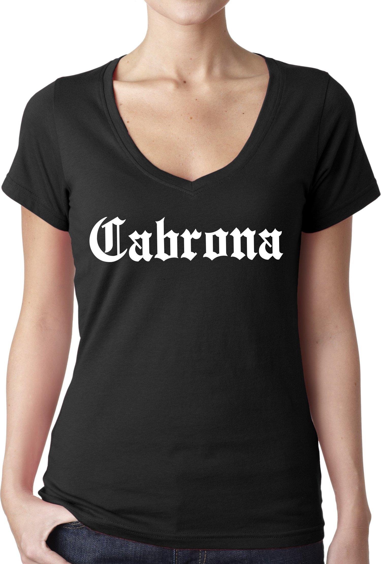 Chamuco Customs Cabrona Funny Mexican Latina Chicana Chola Spanish T Shirt S V N