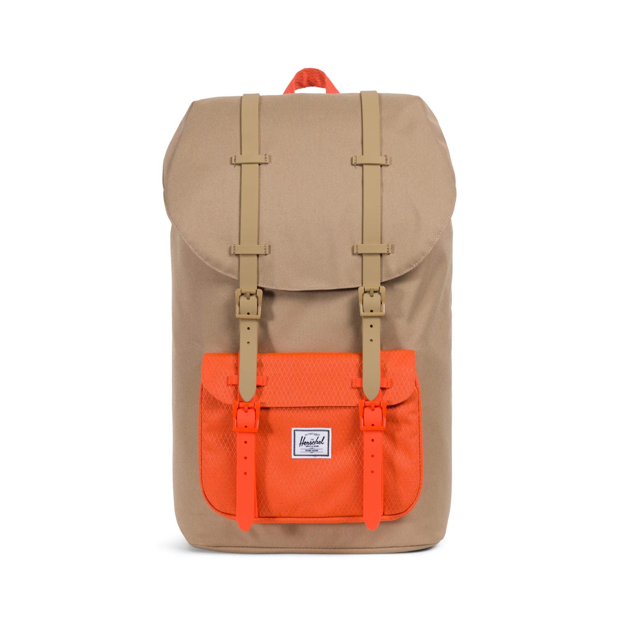 Herschel Little America Backpack, Kelp/Vermillion Orange, One Size