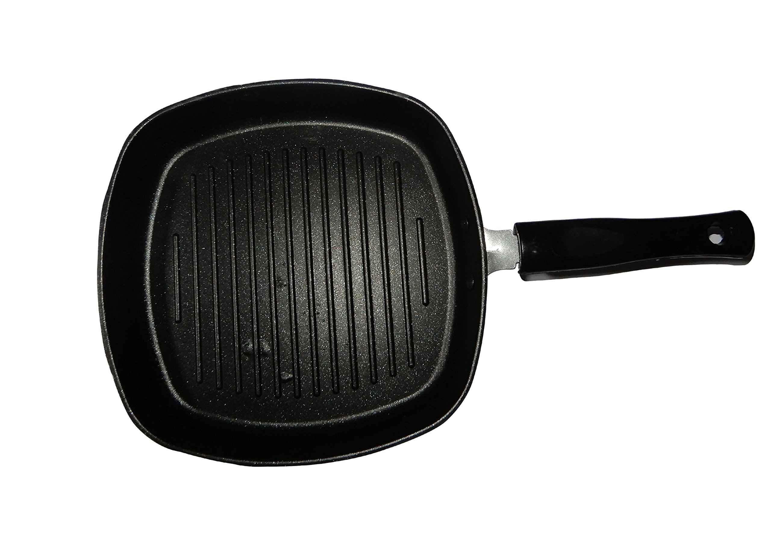 IndiaBigShop Easter Day To your Loved ones, Hard-Anodized Nonstick Deep Square Grill Pan, 9-Inch, With Black Handle, Easter Day/Mothers Day/Good Friday Gift