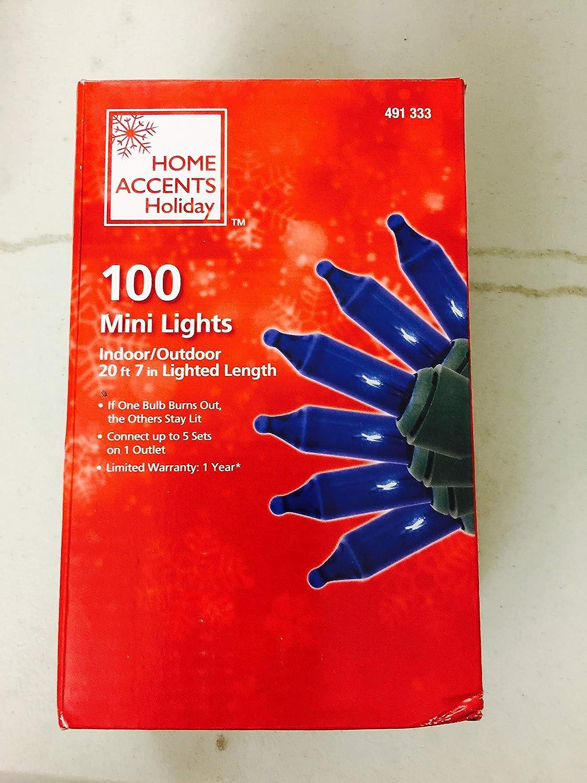 100-Light Blue Mini Light Set