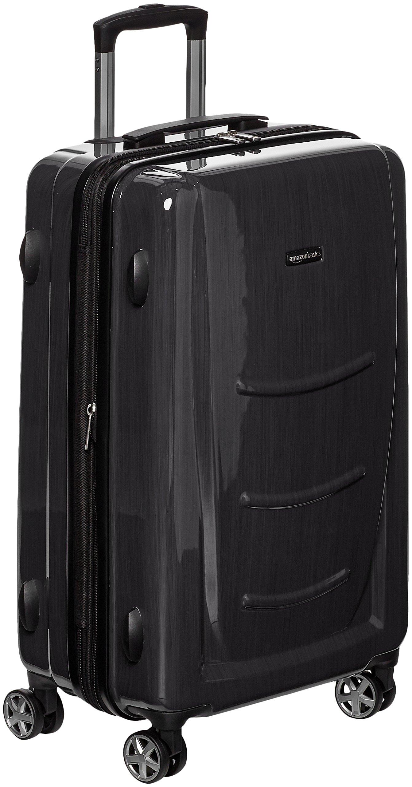 AmazonBasics Hardshell Spinner - 20'' Cabin Size, Slate Grey