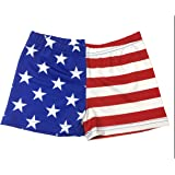 Stars and Stripes Spandex Shorts Inseam in 3 Lengths
