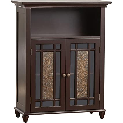 Fine Two Door Bathroom Storage Floor Cabinet Home Wooden Cabinet Floor Storage Furniture Bathroom Laundry Open Shelves Cabinet With Glass Doors Home Interior And Landscaping Ologienasavecom
