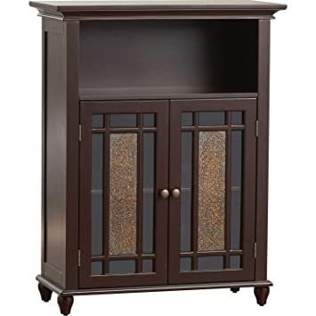 Amazon Two Door Bathroom Storage Floor Cabinet Home Wooden