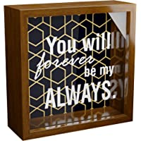 LadyRosian 8x10 Display Case Shadow Box Frame with Linen Background and 4 Stick Pins Memento Photos Wedding Memory Box